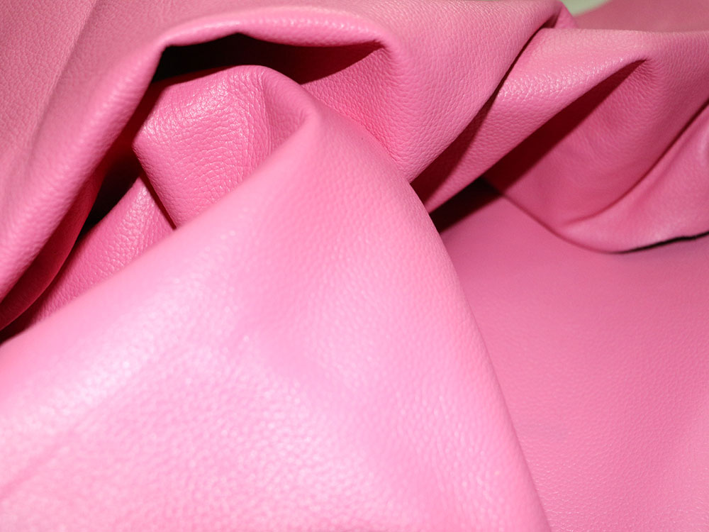 Pink Cowhide Leather