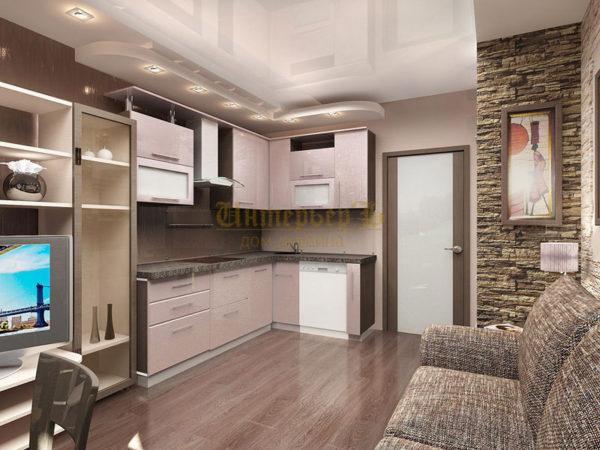 Кухня-гостиная 17 Кв.м Дизайн Фото