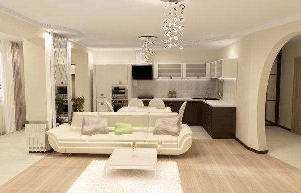 Современный интерьер гостиной в светлых тонах — 50 фото ...