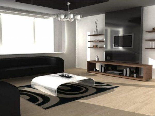 Отделка гостиной комнаты — фото в современном стиле ...