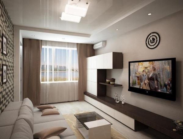 Интерьер гостиной 18 кв м фото в панельном доме — Портал о ...