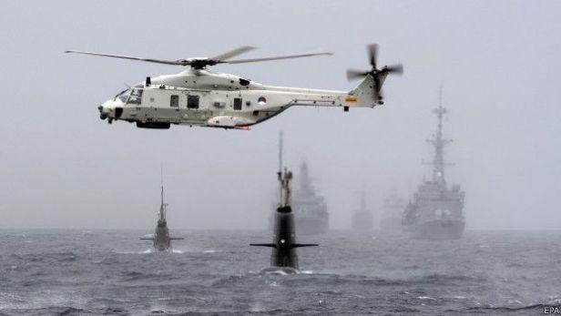 Голландский вертолет помогает обнаружить немецкую U33
