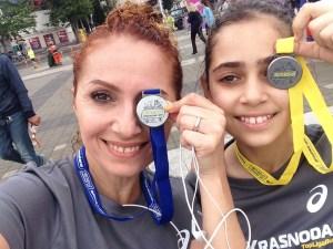Христина и Доминика с медалями