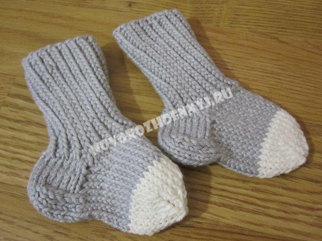 носочки для новорожденных спицами схемы от 0 носочки для малышей