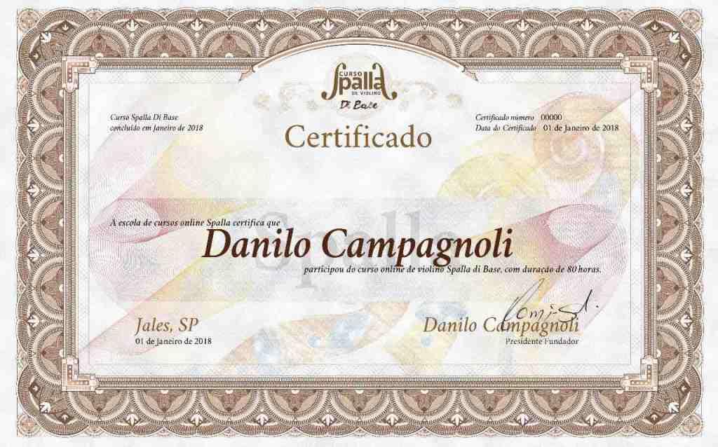 certificado curso de violino online spalla di base