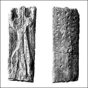 Плочка от слонова кост, намерена в пещера в долината Ач в Германия