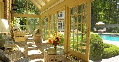 Солнечные комнаты (sun rooms) – интерьеры застекленной веранды