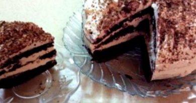 """Очень простой приготовлении тортик """"Снежная сказка"""""""