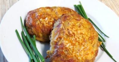 Картофельно — мясные котлеты