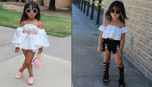 Пользователей Сети взмутили снимки девочки, которую родители одевают во взрослые наряды