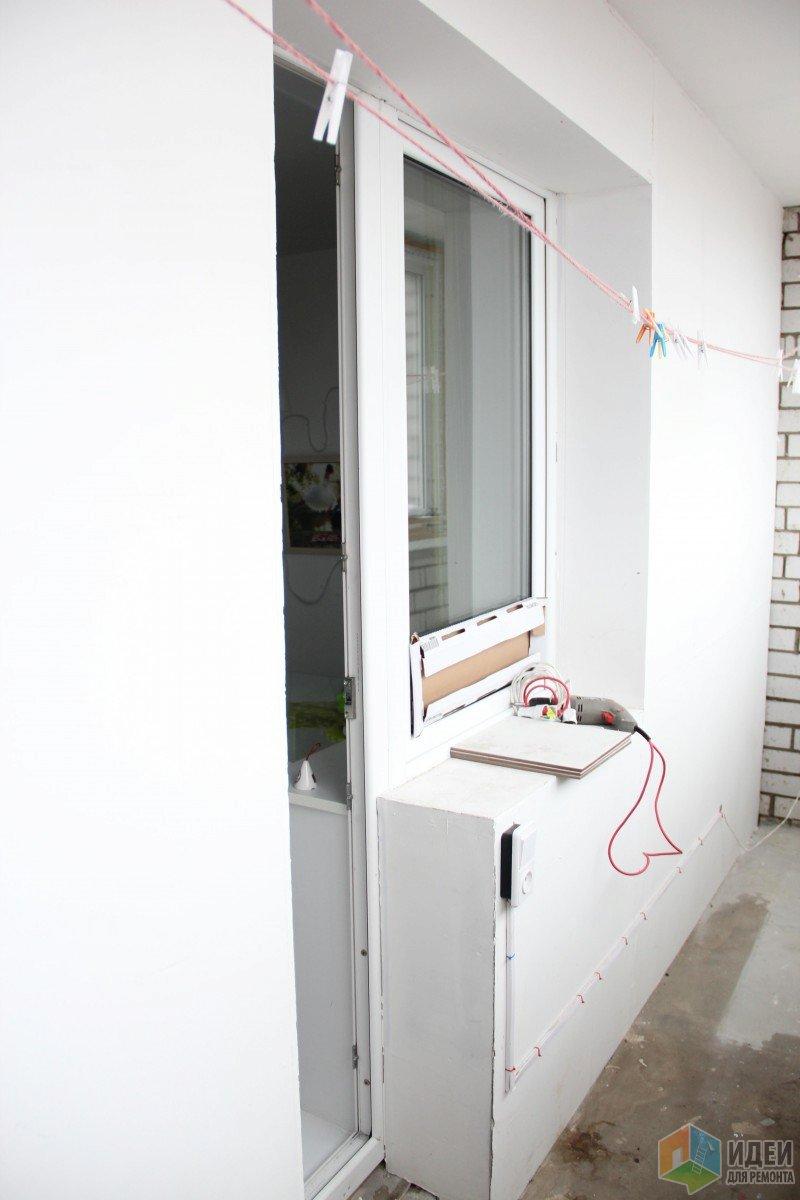 Лоджия с красивым видом из окна
