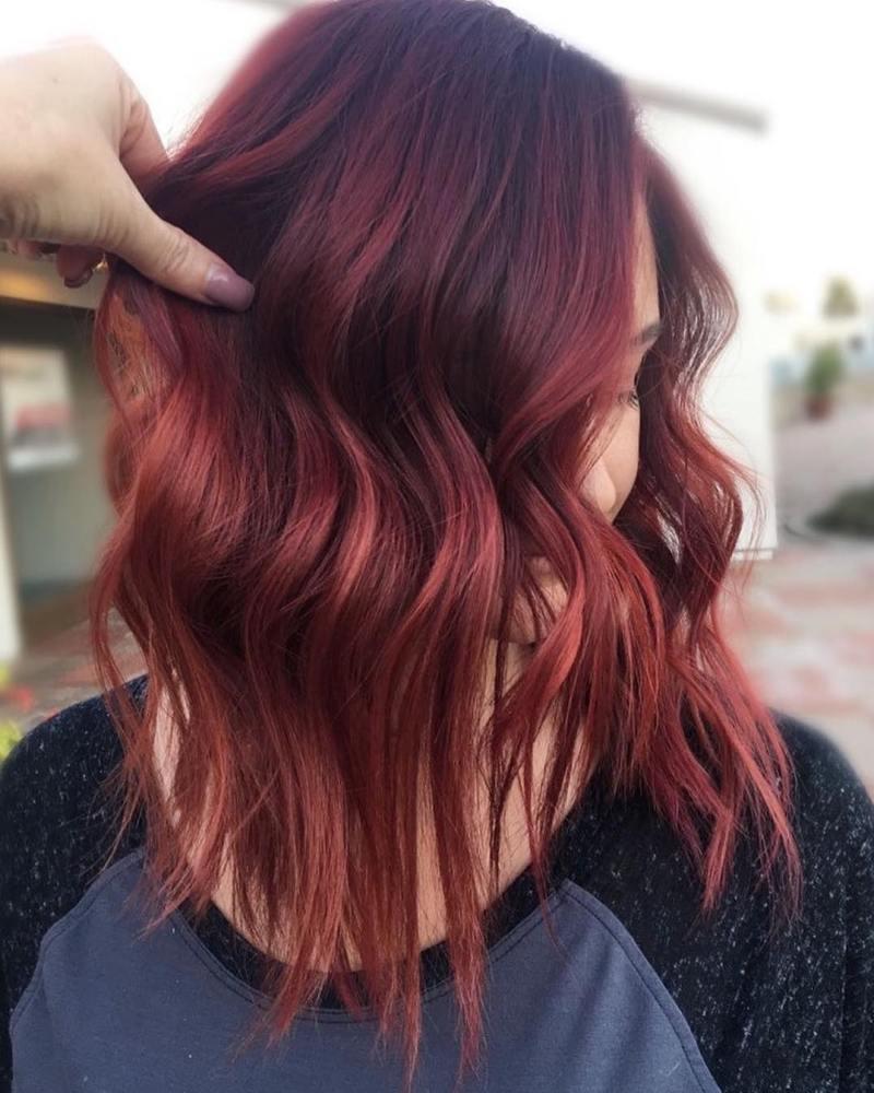 короткие стрижки для рыжих волос фото 18