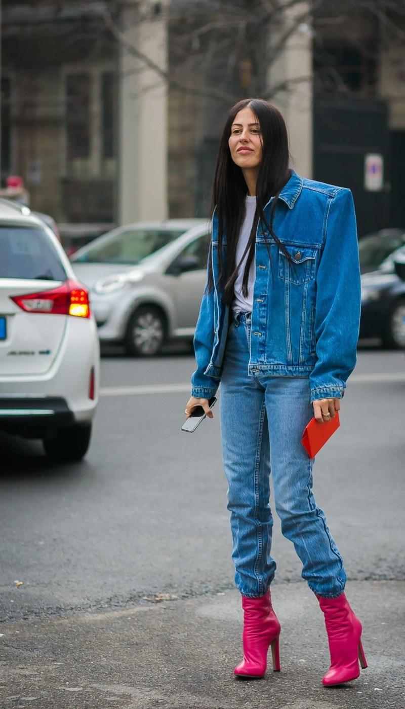 с чем носить джинсовую куртку фото 14