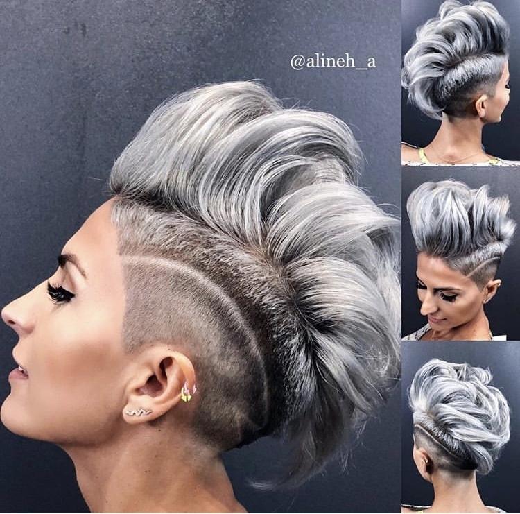 короткие стрижки для пепельных волос фото 12
