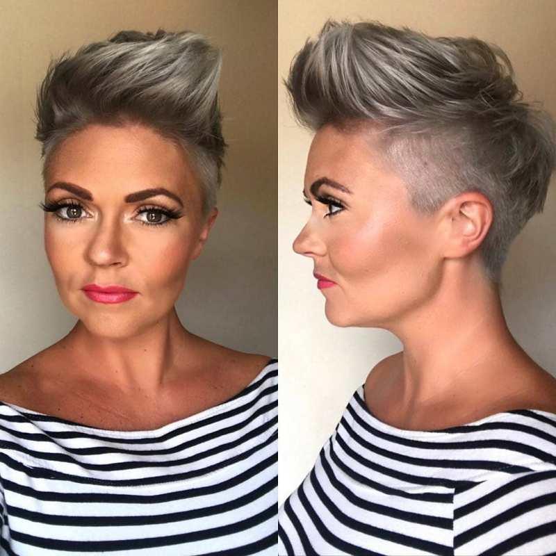 короткие стрижки для пепельных волос фото 15
