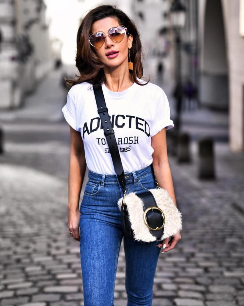 джинсы с футболкой фото 2