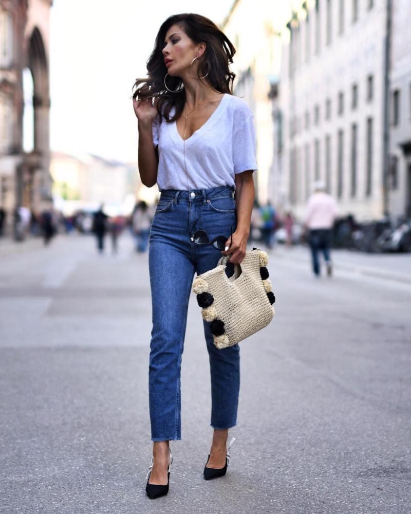 джинсы с футболкой фото 1