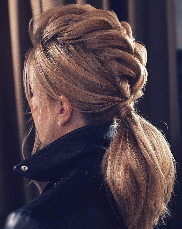 35 причесок для длинных волос с косой челкой