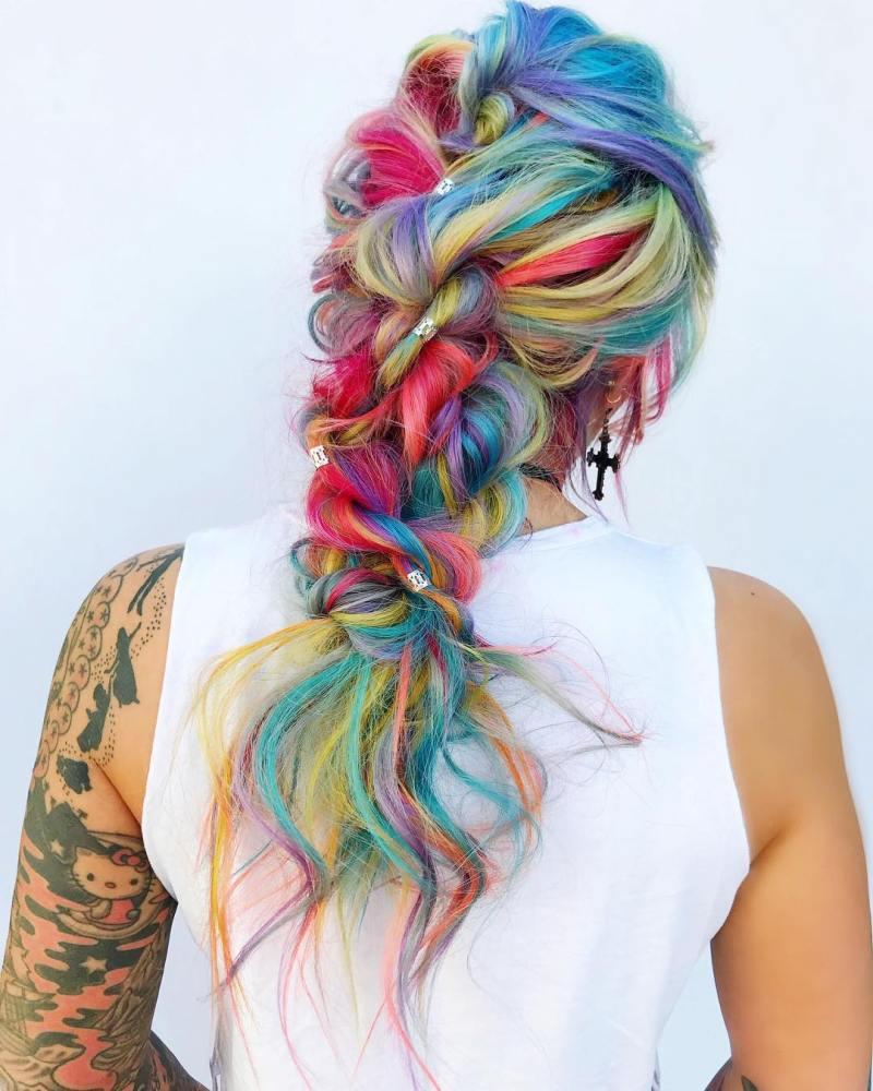 длинные волосы с косой челкой фото 12