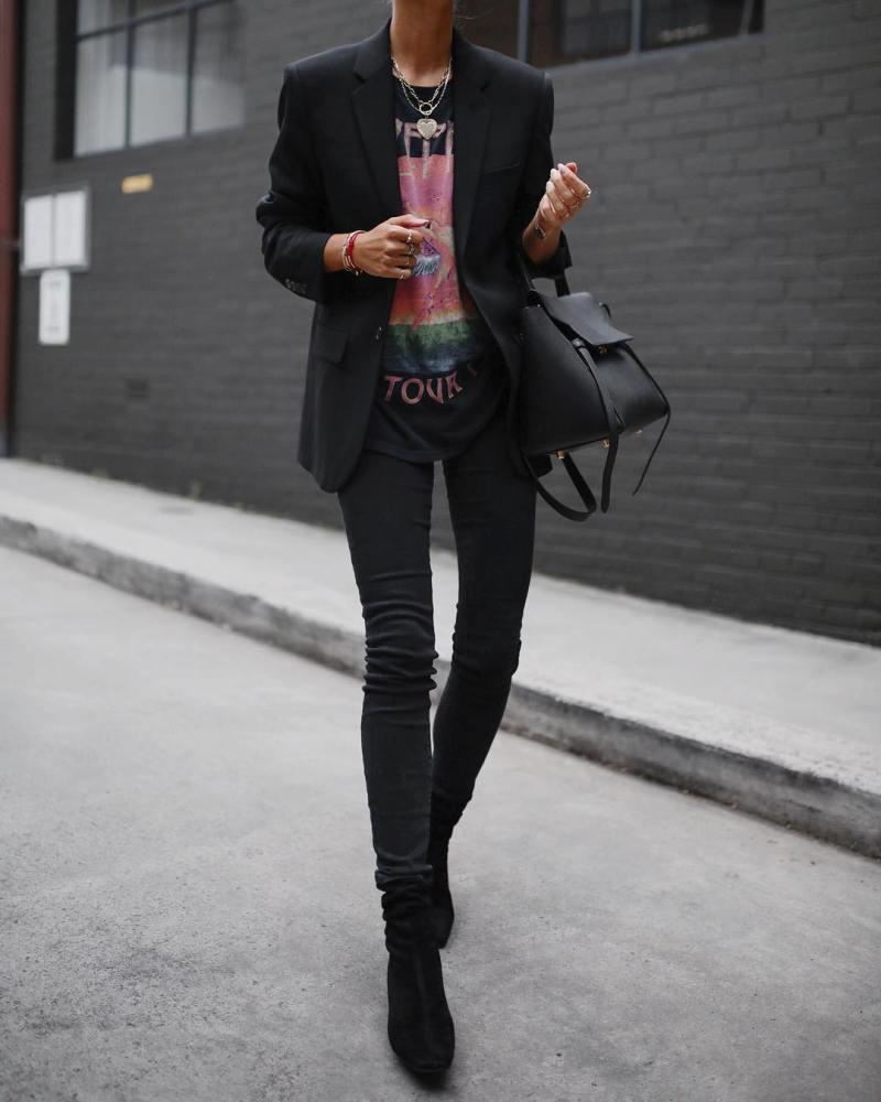 джинсы и футболка фото 4