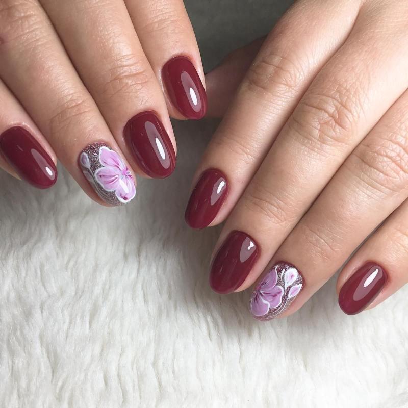 короткие темные ногти_22