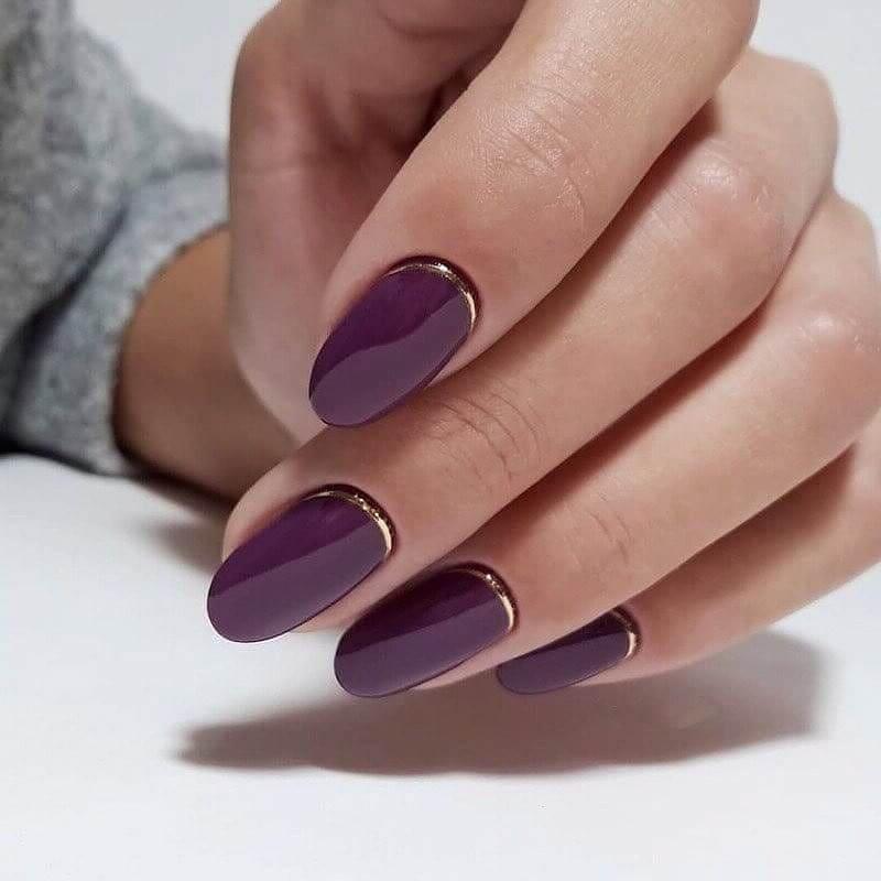 короткие темные ногти_12