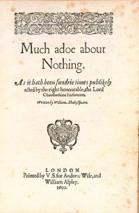 Much Ado About Nothing, Shakespeare