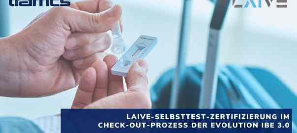 traffics LAIVE-Selbsttest-Zertifizierung in den Check-out-Prozess