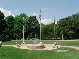 City of Wyoming's Veteran's Fountain.