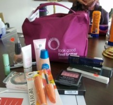 My bag of tricks was filled with quality cosmetics and lotions.