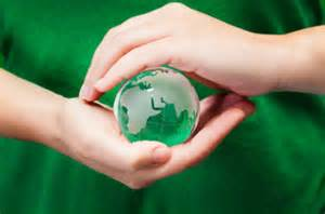 Creation Care globe in hands
