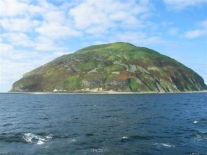 Ailsa Craig, a solid granite island is the official source of all Olympic curling stones.