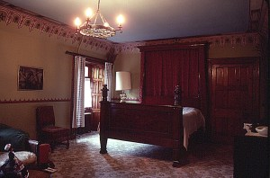 The Upps shared a bedroom with a former resident at Penkill Castle