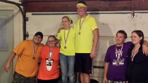 Team Yellow wins the gold, Team Orange takes the silver and Team Purple claims the bronze - all for a good cause!