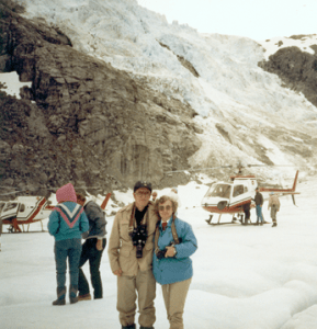 Don and Jan Upp on Mendenhall Glacier