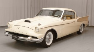 Mark White now owns his dad's 1958 Packard Hawk. As a young man he was never allowed to drive it, only wash and wax it.