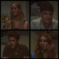 "The Hunger Games: Mockingjay Part 2 top left:  Jennifer Lawrence ""Katniss Everdeen"" top right: Josh Hutcherson ""Peeta Mellark"" bottom left: Liam Hemsworth ""Gale Hawthorne"" bottom right: Willow Shields ""Primrose Everdeen"""