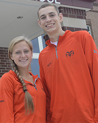 Bri Houle and Nick Ignatoski head a group trained to listen to and support students with their problems.
