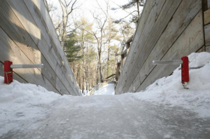 There are only four public luge tracks in the country, one of them is right here in West Michigan!