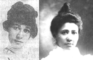 Ethel Beverly Burgess (left) and Hattie Beverly (right)