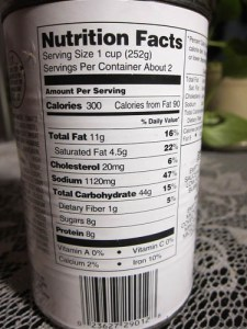 Double check the portion size and number in a container.