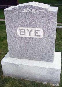 Bye gravestone