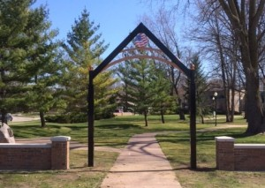 "The new memorial arch, ""Country"" will be dedicated at Wyoming's Memorial Day Services set for Monday, May 30."