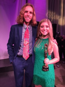 Alex Bolen and Sophie Bolen. Alex was the presenter for Best Actor which went to his sister, Sophie.