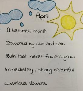 """Nurit Gonzalez's poem """"April."""""""
