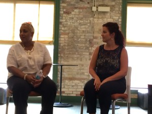 "Lisa Butler, who plays Caroline Thibodeaux, and Jessica Dole, who plays Rose Gellman, talk about the upcoming production of ""Caroline, or Change."""