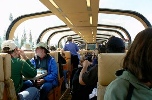 A sneak peek inside Amtrak's Great Dome car.