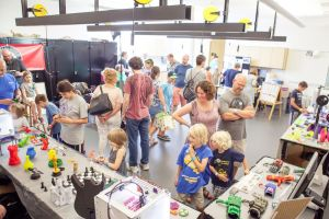 Part science fair, part county fair, the Maker Faire allows visitors to explore what local people are creating.