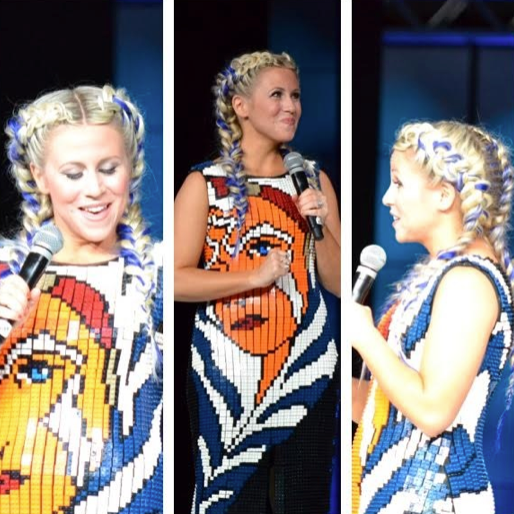 Ashley Eckstein in her Lego dress!