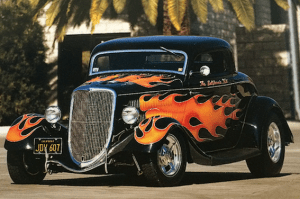 """The car that started it all for Pete Chapouris, the 1934 coupe """"The California Kid."""""""